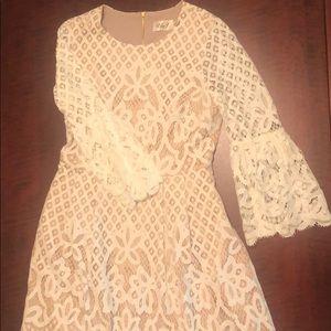 Eliza J cream lace dress